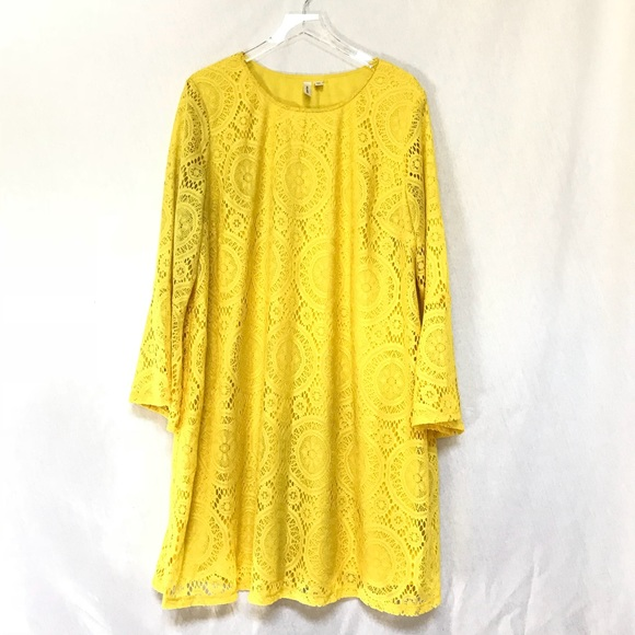 629c7105f4c3 ... Yellow Lace Dress Bell Sleeves Plus Size. Tacera.  M_5b90ca262aa96aaed01d2f7d. M_5b90ca279e6b5bb1336dc530.  M_5b90ca295fef378f2f5dd7c5